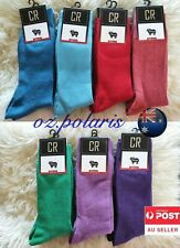 6 Pairs MENS6-11 95% Merino Wool Warm Thermal Woolen Hiking Dress Socks assorted