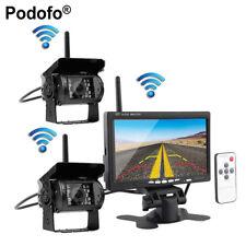 "7"" TFT Funk Monitor Rückfahrkamera-Set für Bus-LKW + 2x IR-Rückseiten-Kamera Kit"