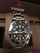 Tudor Black Bay Blue ETA 79220B Complete Set 2018 Bracelet and Nato strap