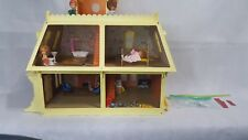 1980 Mattel The Littles Dollhouse Accessories & Dolls Working Fireplace Lights