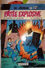 BD gil jourdan n°12 patée explosive réédition brochée 1981 TBE m tillieux