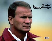 BARRY SWITZER SIGNED AUTOGRAPHED 8x10 PHOTO OKLAHOMA SOONERS LEGEND BECKETT BAS