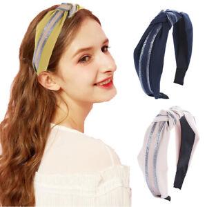 Women's Tie Headband Hairband Fabric Hair Band Knot Head Band Hair Accessories