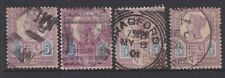 1887 UK GB Great Britain QV Victoria Jubilee 5d Purple & Blue x 4    REF: JB043