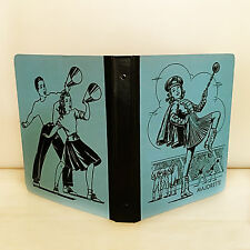 Vintage School Binder Majorette Cheerleading Football Marching Band Blue