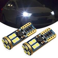 2pcs White T10 2835 12smd Led Backup Reserve Parking Side Marker Light Bulbs 921