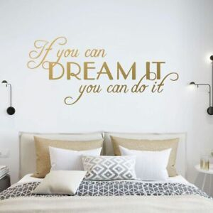 If You Can Dream It You Can Do It Wall Stickers Large Quotes Motivating Phrases