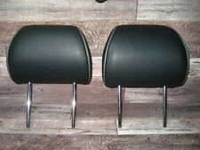 Lexus IS300 IS-300 Front Head Rests Black Leather w Gray Trim 2001-2005 Nice!