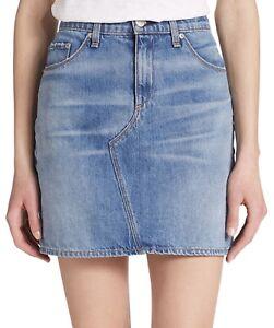Rag & Bone Sz 31 Straight Distressed Jeans Denim Skirt EUC Clean Bigbee Pencil