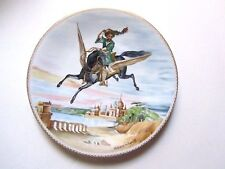 Limoges, The Magic Horse plate,Lillian Tellier, #4556, 1979, Certificate of Auth