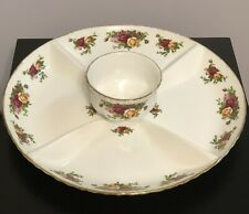 Royal Albert Old Country Roses Extra Large Chip'N'Dip Serving Platter with Bowl