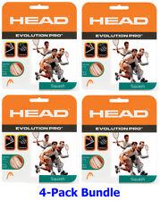 Paquete De 4 Paquete De Head Evolution Pro 17 Squash cuerdas-Blanco-Envío Gratuito