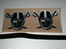 """OAKLAND RAIDERS """"BLACK ICE"""" FULL SIZE FOOTBALL DECALS"""