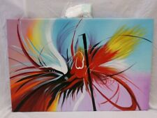 """New Modern Art Canvas 36"""" x 24"""" With Gloves & Fixing Hooks  (872A1)"""