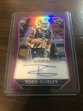 Panini Prizm Todd Gurley Rookie Auto Purple Prizm Refractor Beautiful Card