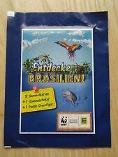 15 Tüten Entdecke Brasilien WWF Edeka Sammel Sticker  Sammelbilder