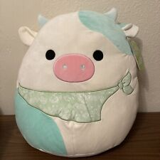 """2021 Easter Squishmallow 16"""" Belana The Cow With Tags"""