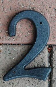 """House Street Address Nail On 5"""" Vinyl Hard Plastic Black Numbers 0-9 BLACK"""