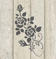 Stencil Shabby Chic FRENCH VINTAGE furniture ART CRAFT 190 micron MYLAR A5 (123)