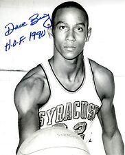 Signed 8x10 Dave Bing Hof 1990 Syracuse University Autographed Photo w/Coa