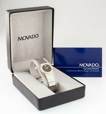 Movado Museum Two Tone Diamond Women's Quartz Watch w/ Box & Papers 85.24.836