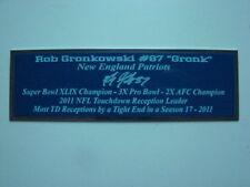 Rob Gronkowski Autograph Nameplate New England Patriots Autograph Helmet Jersey