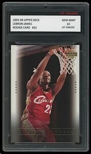 LEBRON JAMES 2003-04 UPPER DECK #15 1ST GRADED 10 ROOKIE CARD LAKERS/CAVALIERS