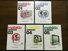 MAFALDA ANIMADA VOLUMENES 1 A 5 - 5 DVD PAL 2 - SLIMCASE - QUINO - PUBLICO