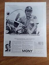 1965 Mony Mutual New York Ad Robert Adam  Eddie LeBaron