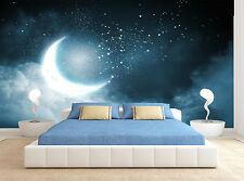 Moon Stars Clouds Night Sky Wall Mural Photo Wallpaper GIANT WALL DECOR Part 69