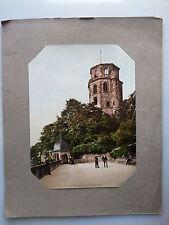 Original Photochrome 19ème  ALLEMAGNE GERMANY  Heidelberg Achteckiger Turm Altan