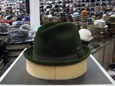 KANGOL OLIVE GREEN FUR FELT FEDORA HAT