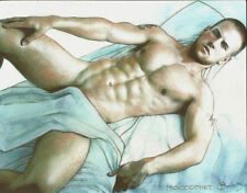 PRINT of Artwork Drawing Painting Male Nude Gay Interest MCicconneT ~ IN BED