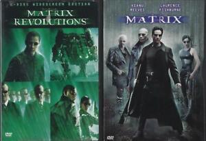 DVD: LOT OF 3 MATRIX-MATRIX RELOADED-REVOLUTIONS  KEANU REEVES