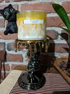 2021 Bath & Body Works Candle Holder Tilted Pillar Stick Drips Halloween Wonky