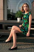 Damen Kleid Minikleid Blumen 60er True VINTAGE women dress flower power 60s