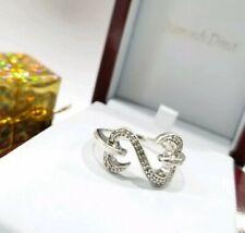 Kay Jewelers Jane Seymour open hearts diamond ring sterling silver #11