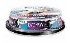 PHILIPS DVD-RW 120 MINUTES VIDÉO 4,7 GO DONNÉES 4X VITESSE VIERGE DISQUE BROCHE