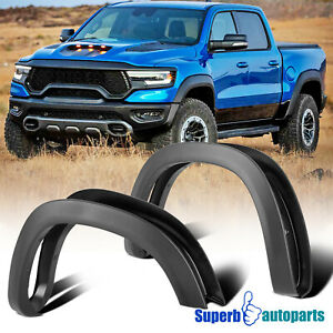 For 2019-2021 Dodge Ram 1500 Black Factory OE Style 4PC Paintable Fender Flares