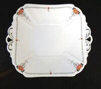 A Beautiful Shelley Queen Ann Red Daisy Cake Plate