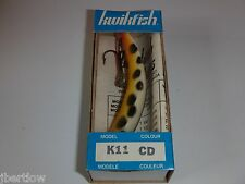 Vintage Kwikfish K11 CD White W/Yellow Belly & Black Spots Made In Canada