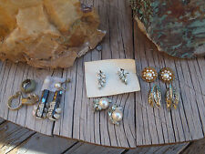 earrings crafts vintage clip on earrings lot (one bag) for use or craft project