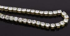 Jewelry Gold Stainless Steel With White Cubic Zirconia Necklace  NM1001RD634GD