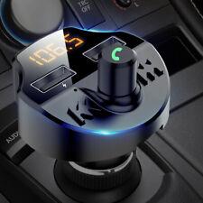 Voiture Transmetteur FM Bluetooth avec 2USB Charge Port Allume Cigare Main Libre