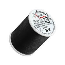 Nozue Sonoko Nylon Beading Thread 0.2mm Black 100 Metre (C77/5)