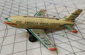 HAJI Vintage 50's Pan American Airways Tin Friction Toy D175 Airplane - Japan