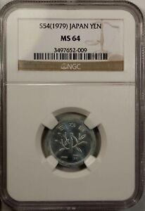 Japan 1 Yen 1979 NGC MS 64 UNC Aluminum