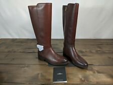 COACH Women's Ruby Horse and Carriage Buckle Leather Boot Size 6.5 B. Walnut.