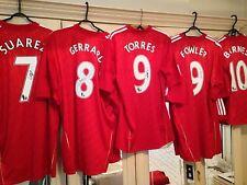 Suarez, Gerrard, Fowler, Torres, Barnes. Signed Liverpool Shirts Mint Bnwt Coas