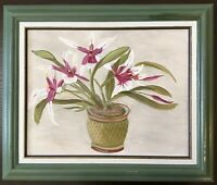 "Beautiful Vintage Painting Oil on Canvas~Signed~Framed~Floral Bouquet~15""x18"""